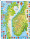 Political Map of Norway/ Norge- Frame/Board Jigsaw Puzzle 29cm x 37cm (LRS  K10-NO)